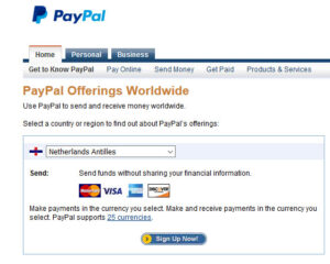 PayPall in Netherlands Antilles
